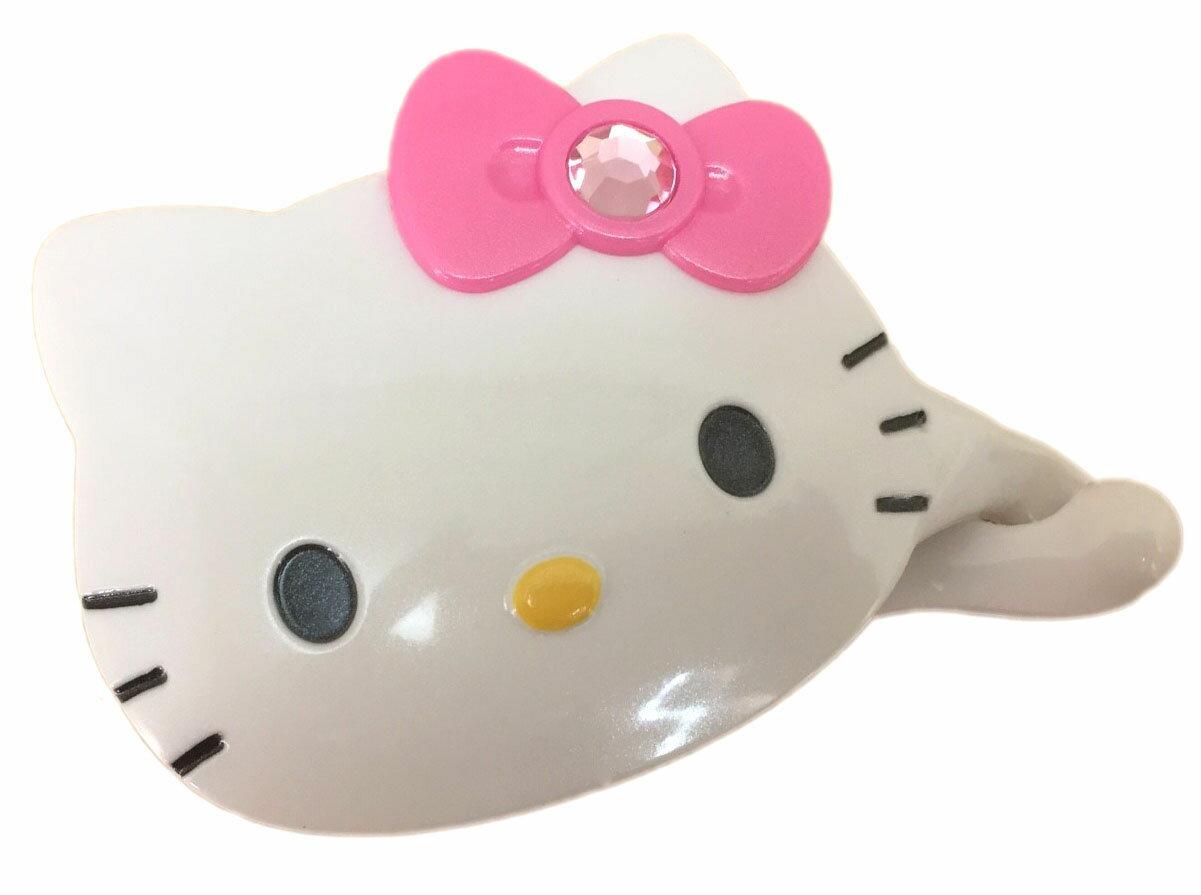 【真愛日本】16080300014相交夾-KT大頭鑲鑽粉結 三麗鷗 Hello Kitty 凱蒂貓 髮飾 飾品 正品