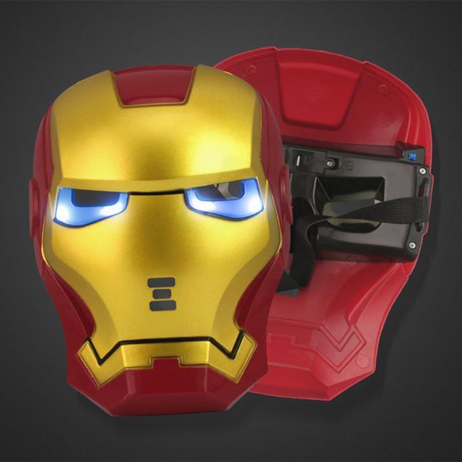 復仇者 面具 面罩 鋼鐵人 LED 發光面具(紅色款) 蜘蛛人面具 復仇者聯盟 萬聖節【塔克】