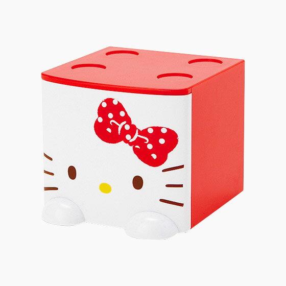 【真愛日本】17060100001 積木抽屜立體收納盒-KT紅+AAP 三麗鷗 Kitty 凱蒂貓 置物箱 預購