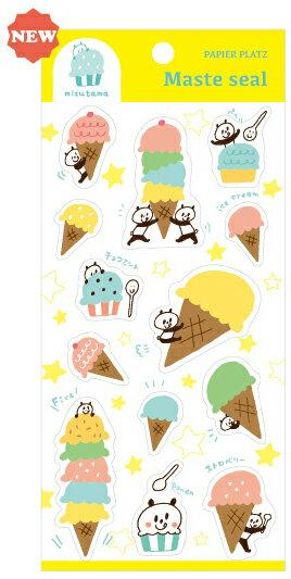 ~小徑文化~  mizutama Maste seal 手帳 貼紙 ~ 冰淇淋   35~