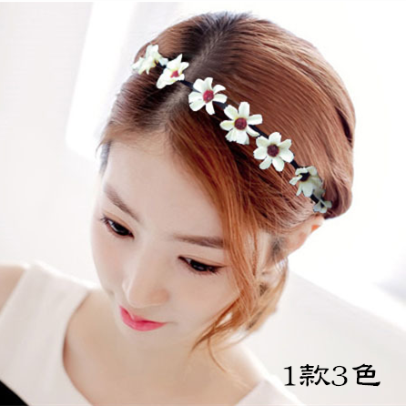 韓國小清新髮箍 仿真雛菊花朵髮箍DG0001 髮飾  髮圈    日韓  頭飾  花卉