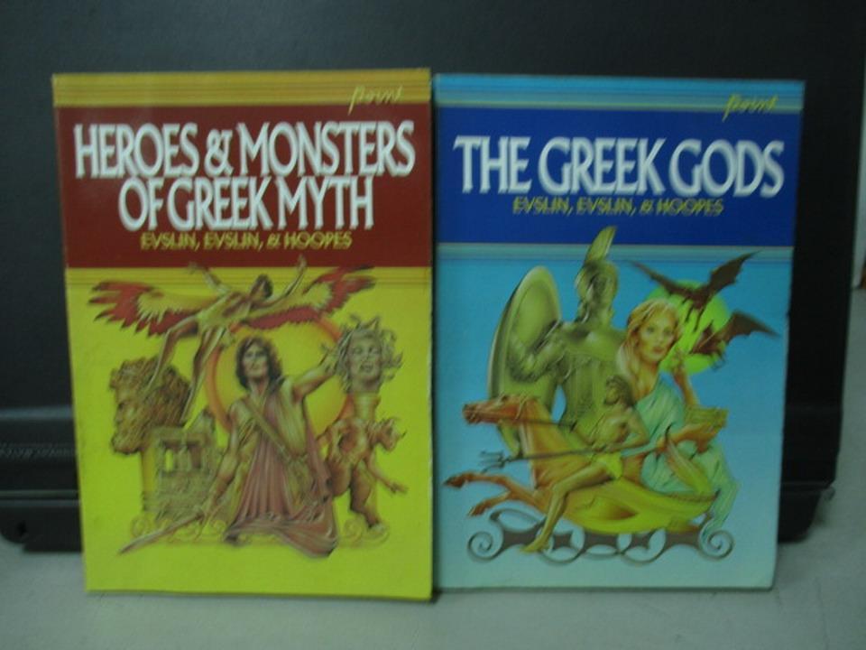 【書寶二手書T4/原文小說_NER】The greek gods_Heroes monst..._共2本合售