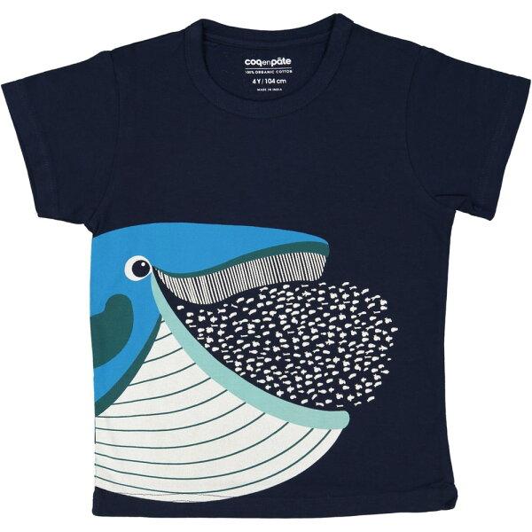 飛炫寶寶嬰幼兒精品館:飛炫寶寶【法國COQENPATE】短袖T-SHIRT(大憨鯨)※有機棉