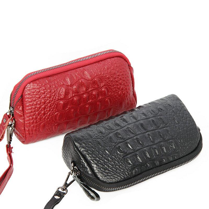 手拿包真皮錢包-純色鱷魚紋牛皮長款女包包5色73wz39【獨家進口】【米蘭精品】 2