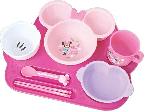 X射線 精緻禮品:X射線【C306026】米妮Minnie塑膠碗杯湯筷組,餐盤餐碗玻璃碗陶瓷碗交換禮物迪士尼Baby