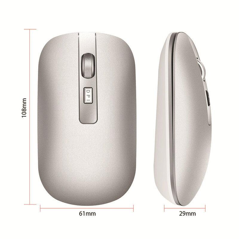 無線滑鼠2.4g可充電靜音雙模藍芽5.0電競光電