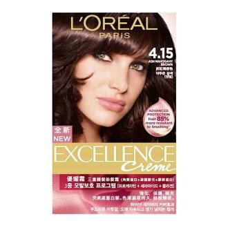 巴黎萊雅 L'Oreal 新版優媚霜三重護髮染髮霜 #4.15 灰紅褐棕色(172g)