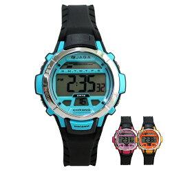 JAGA 捷卡 M1048A 青春活力小巧黑錶帶學生電子錶
