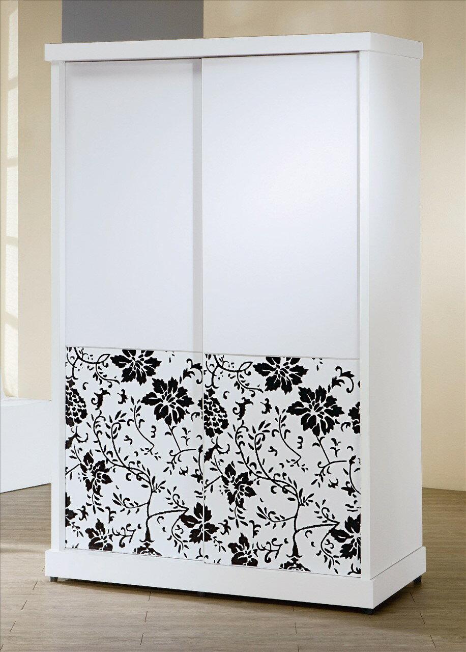 【石川家居】KF-544-3 威爾納4*7尺白色推門衣櫃(不含其他商品) 需搭配車趟