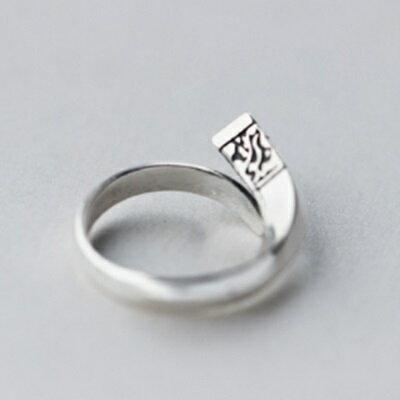 925純銀戒指鑲鑽開口戒-時尚精緻個性花紋情人節生日禮物女飾品73dt645【獨家進口】【米蘭精品】