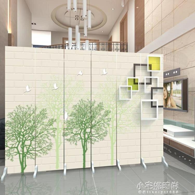 夯貨折扣!歐式屏風隔斷客廳時尚簡約現代布藝玄關臥室房間簡易折疊行動折屏