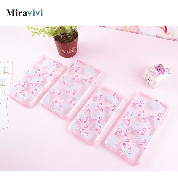 Miravivi粉紅鶴iPhne66sPlus(5.5吋)二合一雙料殼套