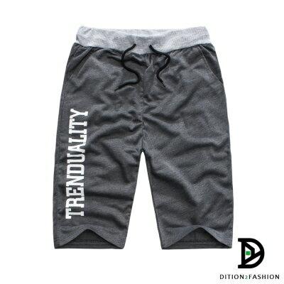 DITION 美式TREND螺紋短棉褲 拳擊SLIDE健身 2