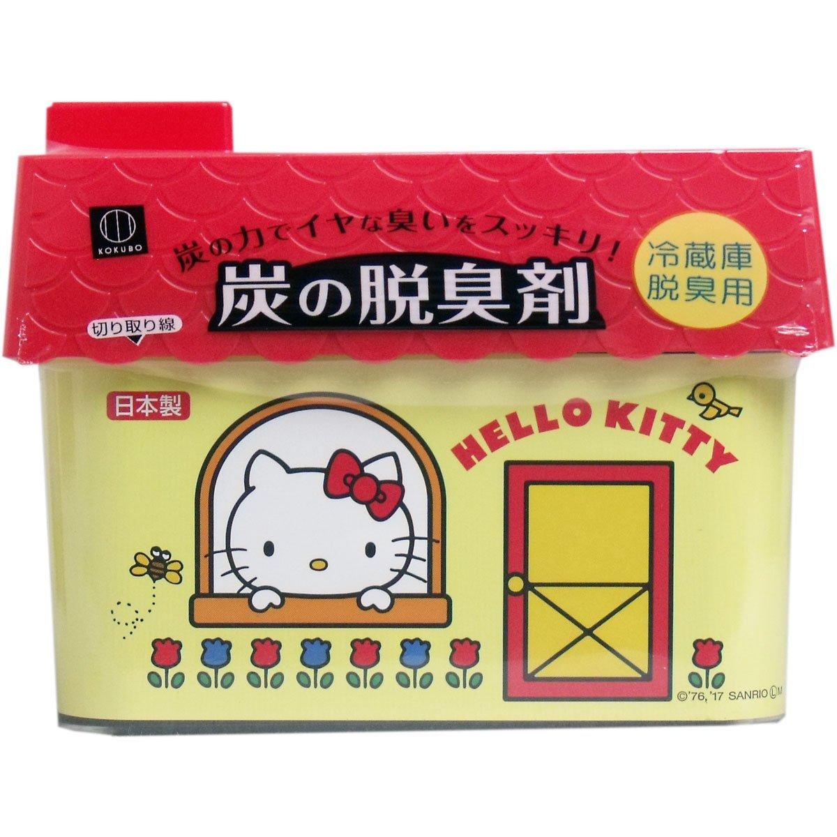 日本Hello Kitty 凱蒂貓活性碳冰箱除臭劑(冷藏庫用/蔬果室用)~吸附異味 強力脫臭‧日本製
