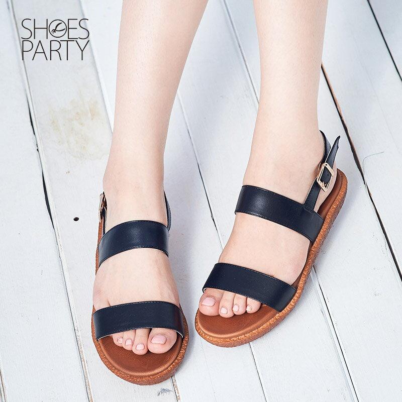 【S2-16509L】Simple+久走不累簡約輕便雙帶涼鞋_Shoes Party 3