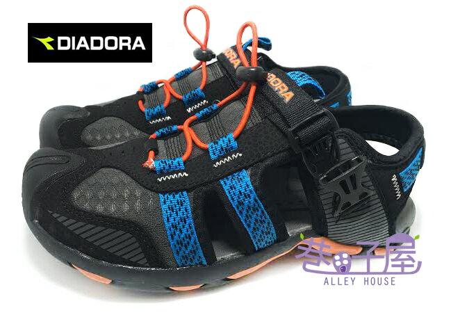 【巷子屋】義大利國寶鞋-DIADORA迪亞多納 男款三大機能護趾運動涼鞋 [9570] 黑藍 超值價$398