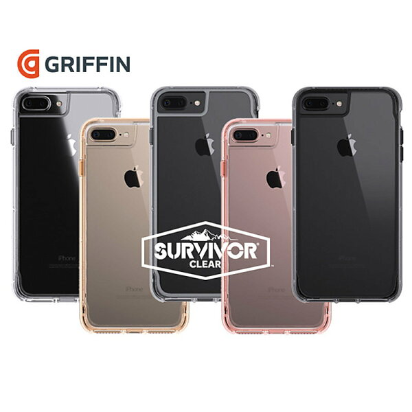 GriffinSurvivorCleariPhone7Plus軍規防摔殼