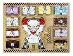 美國瑪莉莎 Melissa & Doug 厚塊疊層拼圖 蛋糕疊數樂 ( 1 - 10 )