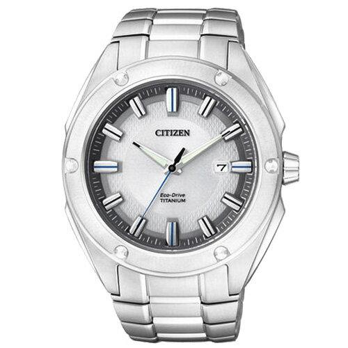 CITIZEN星辰BM7130-58A超級鈦深邃風光動能腕錶/白面43mm