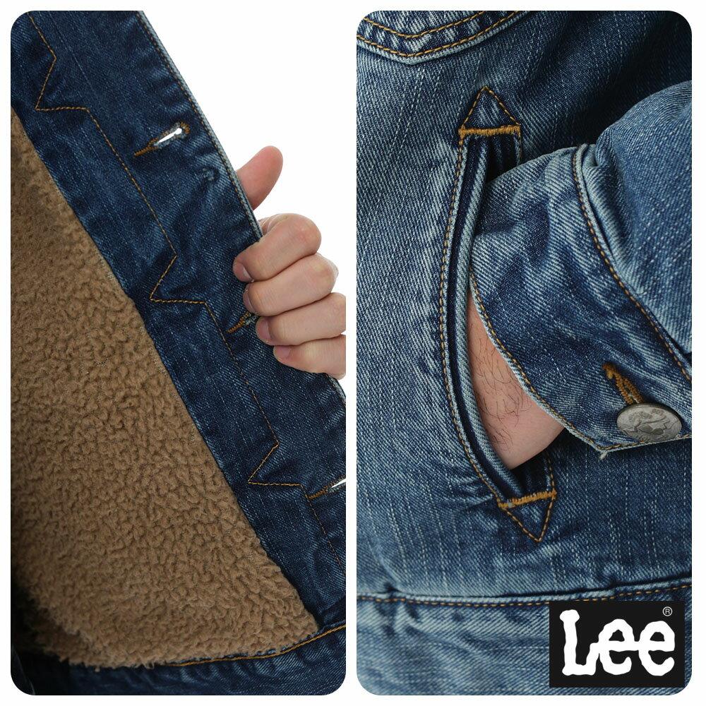 Lee 連帽牛仔外套 / 101+-男款-藍色 4