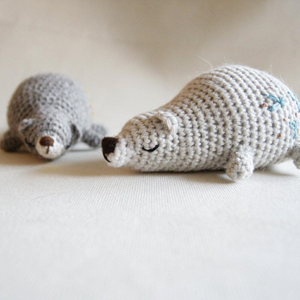 【布棉花】手鉤玩偶, 手作娃娃, 角落生物, 辦公室, 毛線小熊, 貪睡熊