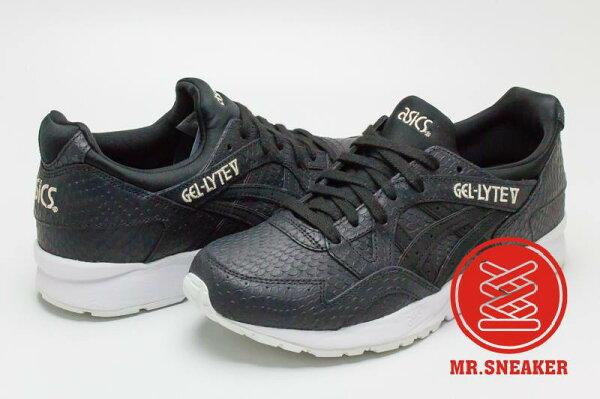 ☆Mr.Sneaker☆ASICSTigerGEL-LYTEV鱗片襪套式包覆黑色女款