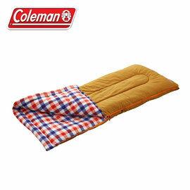 《台南悠活運動家》Coleman 0度紅格紋 水桶包睡袋 內刷毛睡袋可機洗可雙拼 化纖睡袋露營寢袋 CM-26647