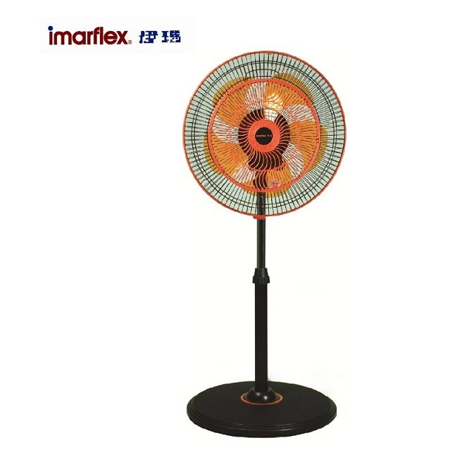 imarflex 伊瑪14吋360度立體擺頭立扇 (ICF-1402)/高風速/三段風速操控/台灣製造【馬尼行動通訊】