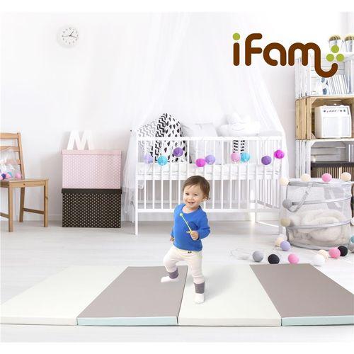 韓國 Ifam 簡約風圍欄套組-粉紅灰圍欄+灰白綠地墊(IF-137-1PG+IF-079PM)★衛立兒生活館★ 1