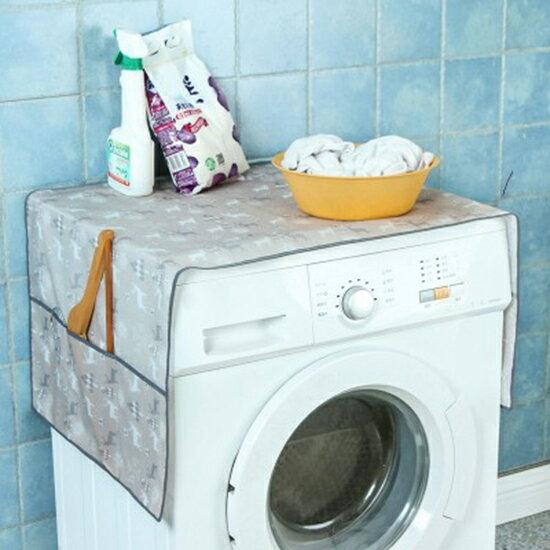 ♚MY COLOR♚聖誕鹿印花防塵罩 洗衣機 多功能 防汙 防曬 收納 洗衣機罩 獨立【P352】