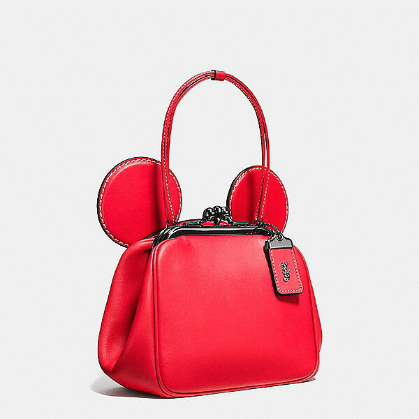 【DISNEY X COACH】MICKEY KISSLOCK 棒球手套鞣製皮革手袋 3色 少量現貨 精品 代購 2