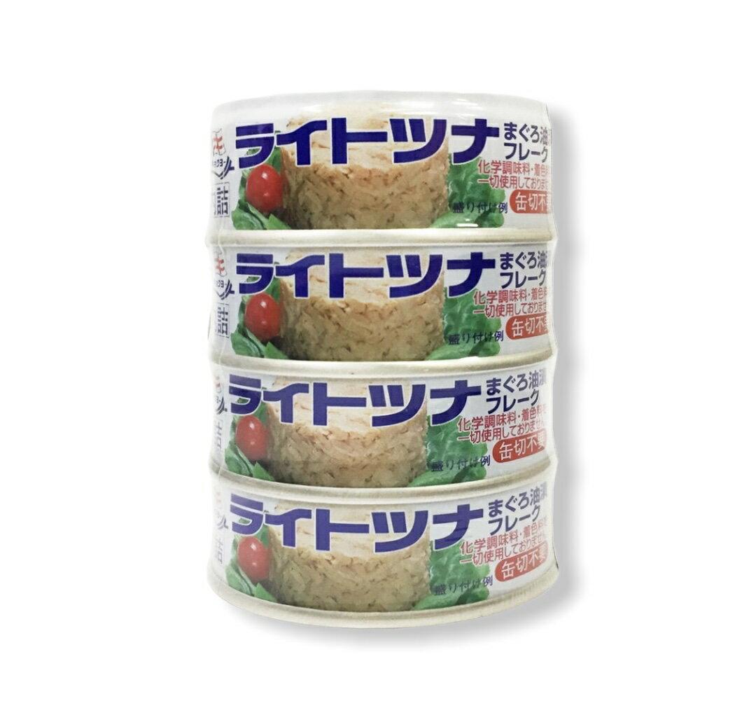 極洋 油漬鮪魚罐頭 70gx4罐入