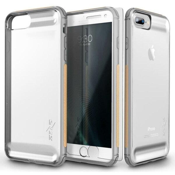貝殼嚴選:【貝殼】ZizoBoltFLUX系列iPhone8PlusiPhone7Plus手機殼防摔殼(贈非滿版玻璃貼)-銀色