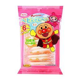 有樂町進口食品 日本進口 栗山米果 麵包超人迷你仙貝 6個月以上(14.4g/12枚) 4901336152486
