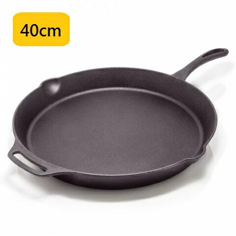 【露營趣】中和 德國 Petromax fp40-t 單柄鑄鐵煎鍋 40cm 平底鍋 烤盤 煎盤