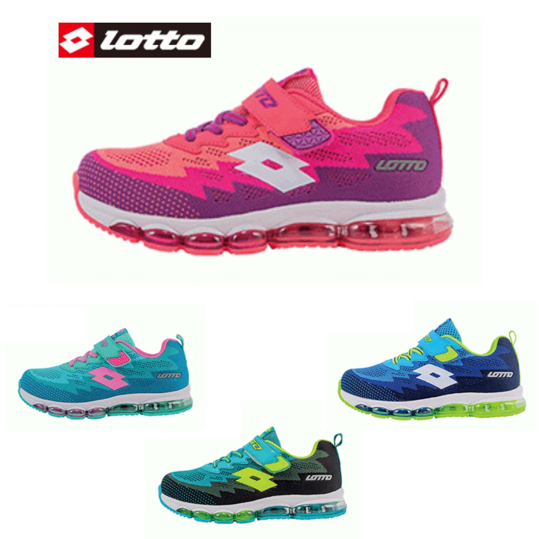 【巷子屋】義大利第一品牌-LOTTO樂得 大童漸層編織大氣墊運動慢跑鞋 [5310 5315 5316 5317] 四色