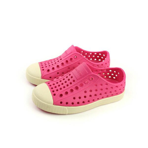 native 洞洞鞋 桃紅色 小童 13100100-5660 no672