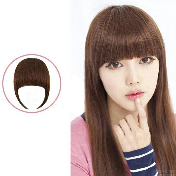 糖衣子輕鬆購~DZ0141~ 鬢角加長齊瀏海假髮片亞光高溫絲修飾臉型瀏海髮片