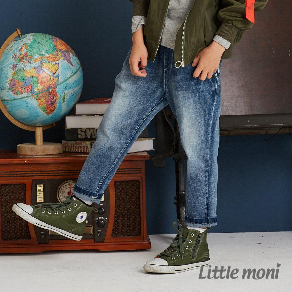 Little moni 牛仔打褶褲-牛仔藍(好窩生活節) 0