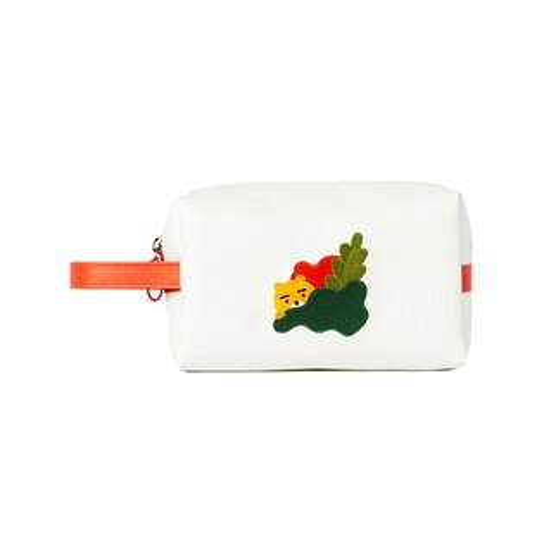 【韓國正品】kakaofriendsRYAN刺繡圖樣白色手抓包