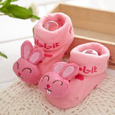 【悅兒園婦幼生活館】NikoKids 止滑襪-粉色兔子SG197 (精美紗袋包裝)