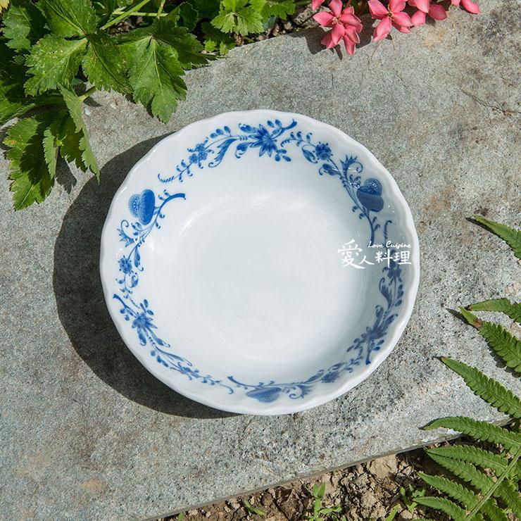 ~ 食器~4.5台寸藍花草湯碗 ^(^#027^) ^(優雅湯碗^)