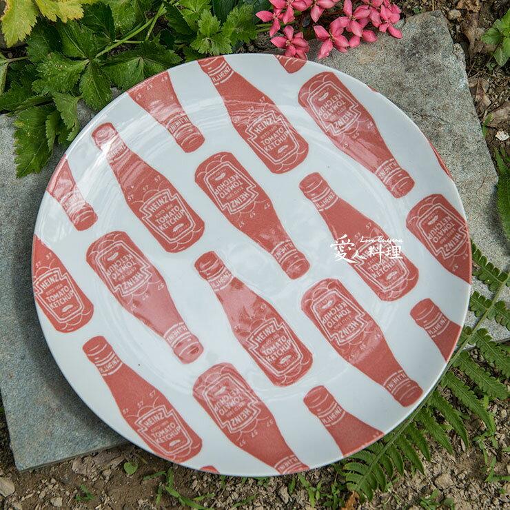 【進口食器】7.75台寸番茄醬淺盤 (#036) (Heinz Tomato Ketchup 蛋糕點心盤)