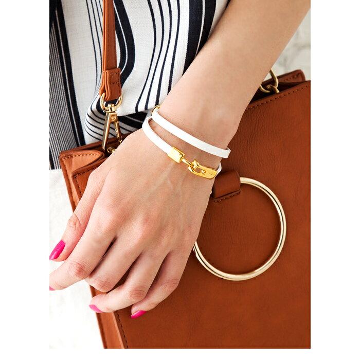 cream-dot 簡約設計高級真皮手環 / a00956。5色。(1680)日本必買 日本樂天代購 6