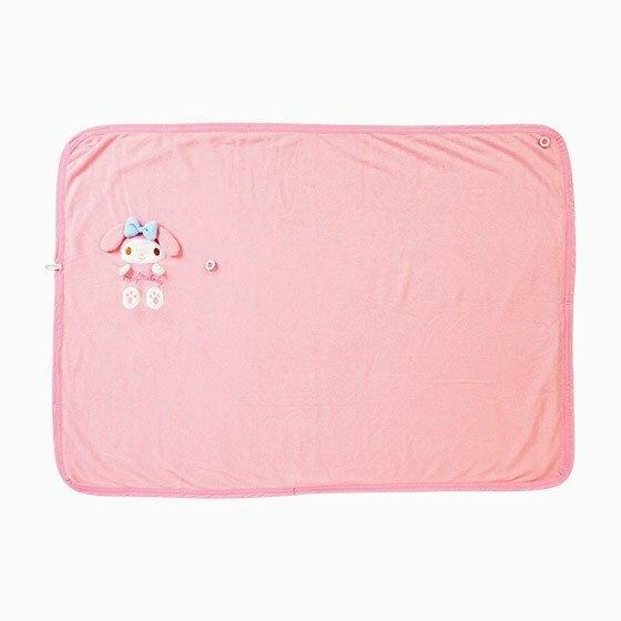 【唯愛日本】4901610069226 涼感收納毯-MM+AAL 三麗鷗 Melody 美樂蒂 毯子 被子 預購