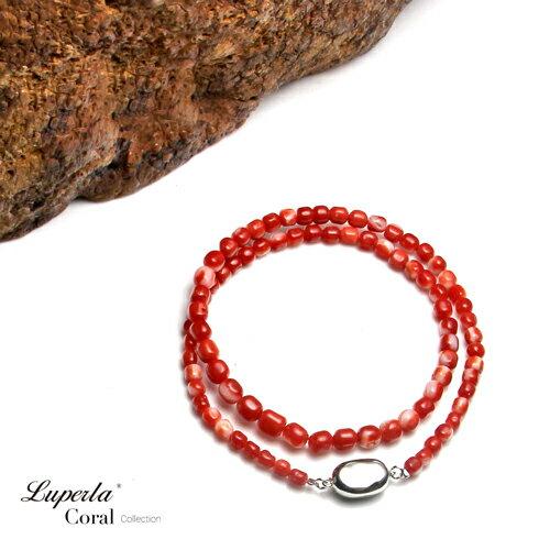 大東山珠寶 頂級阿卡珊瑚 桶珠珊瑚項鍊 4