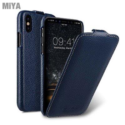 iPhoneX真皮牛皮上下翻掀蓋手機保護套白藍紫紅黑色