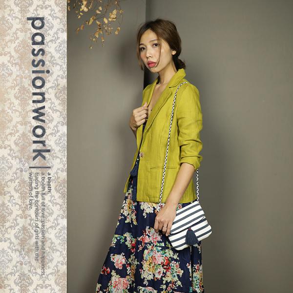 美passionwork:《美passionwork》☆亞麻小西裝☆芥黃