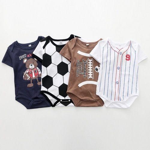 足球短袖包屁衣嬰兒哈衣春夏兔裝寶寶童裝(XE10424)好娃娃