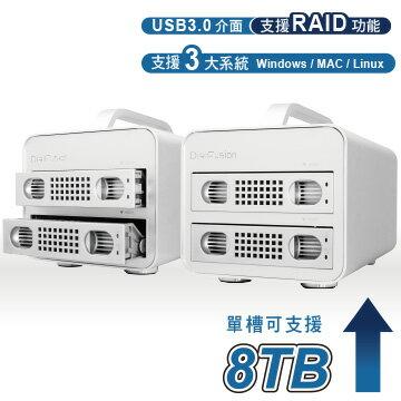 伽利略 USB3.0 1至2層抽取式鋁合金硬碟外接盒 35D-U32RM